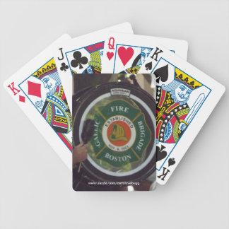 Naipes del departamento de bomberos de Boston Baraja Cartas De Poker