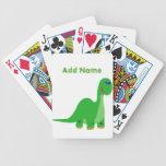 Naipes del dinosaurio del niño lindo cartas de juego