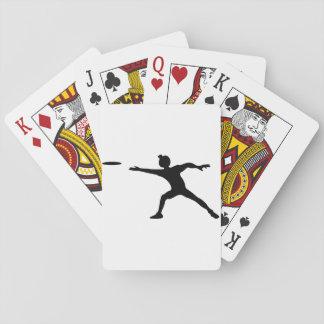 Naipes del disco volador barajas de cartas