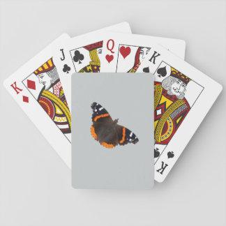 Naipes del diseño de la mariposa del almirante barajas de cartas