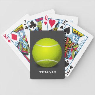 Naipes del diseño de la pelota de tenis baraja