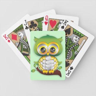 Naipes del diseño del arte de papel del búho del b baraja de cartas
