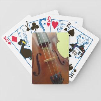 Naipes del diseño del violín baraja