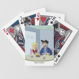 Naipes del dolor de pecho del pirata baraja cartas de poker