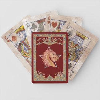 Naipes del dragón baraja cartas de poker