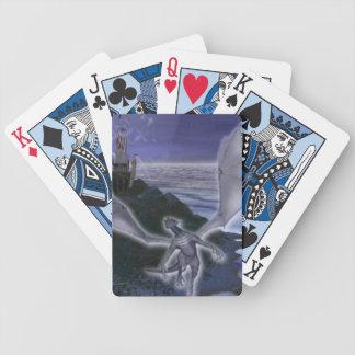Naipes del dragón y del castillo baraja cartas de poker