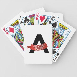 Naipes del ejército del pañuelo baraja cartas de poker