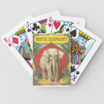 Naipes del elefante blanco baraja de cartas
