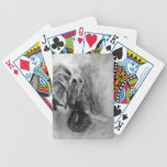 naipes del elefante del carbón de leña baraja cartas de poker
