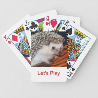 Naipes del erizo baraja de cartas