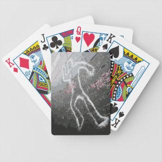 Naipes del esquema de la tiza baraja cartas de poker