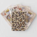 Naipes del estampado de animales del guepardo baraja