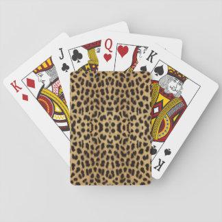 Naipes del estampado leopardo barajas de cartas