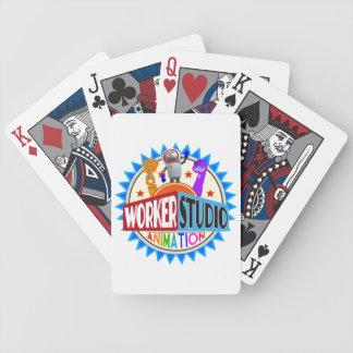 Naipes del estudio del trabajador cartas de juego