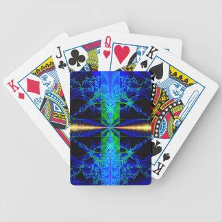 """Naipes del fractal de la """"laguna azul"""" baraja cartas de poker"""