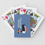 Naipes del frailecillo del perno prisionero barajas de cartas