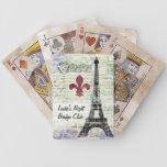 Naipes del francés del vintage de la torre Eiffel Baraja De Cartas