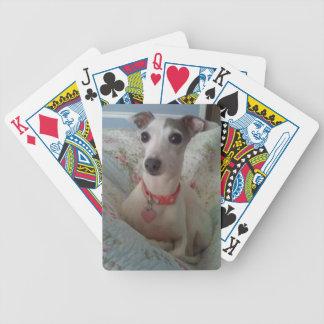 Naipes del galgo italiano baraja cartas de poker