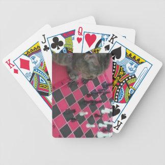 Naipes del gatito   del ajedrez por Jokeapptv TM Baraja Cartas De Poker