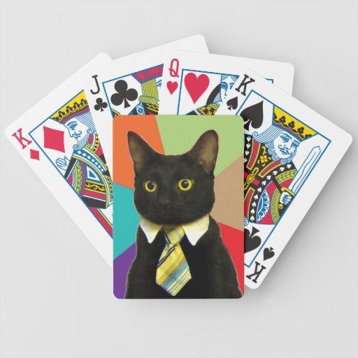 Naipes del gato del negocio cartas de juego