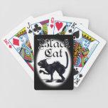 Naipes del gato negro baraja de cartas