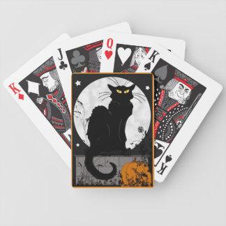 """Naipes del """"gato negro"""" cartas de juego"""