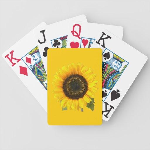 Naipes del girasol baraja cartas de poker