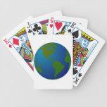 Naipes del globo barajas de cartas