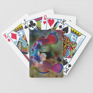 Naipes del gobio del mandarín cartas de juego