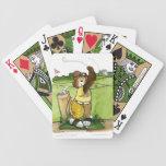 Naipes del golf cartas de juego