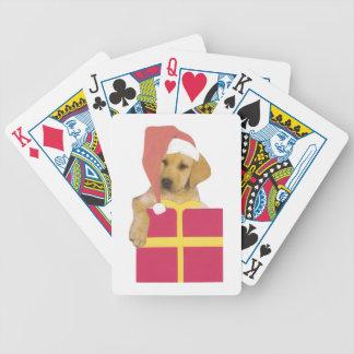 Naipes del gorra de Santa del labrador retriever Baraja Cartas De Poker