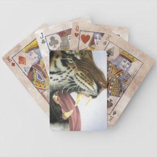 Naipes del gruñido del tigre baraja cartas de poker