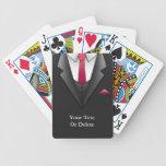 Naipes del hombre de negocios del juego baraja cartas de poker