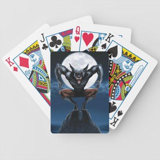 Naipes del hombre lobo cartas de juego