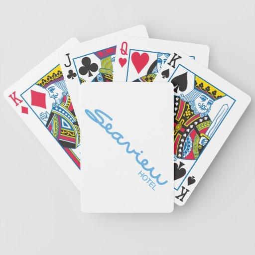 Naipes del hotel de Seaview Baraja Cartas De Poker