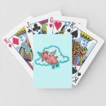 Naipes del humor del dibujo animado del cerdo del  baraja de cartas