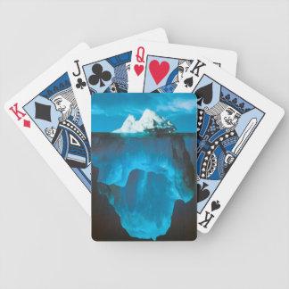 Naipes del iceberg de hielo barajas de cartas