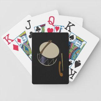 Naipes del instrumento musical del tambor de Davul Baraja Cartas De Poker