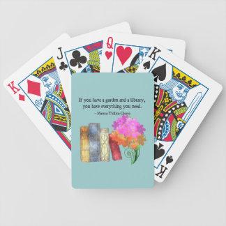 Naipes del JARDÍN y de la BIBLIOTECA Baraja Cartas De Poker