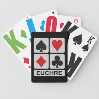 Naipes del jugador del Euchre Cartas De Juego