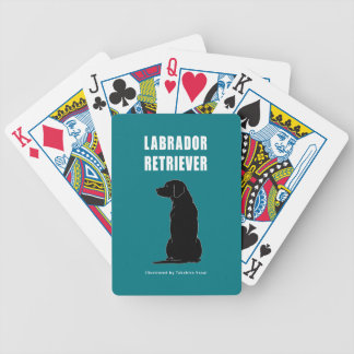 Naipes del labrador retriever baraja cartas de poker