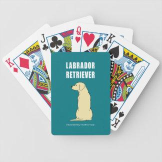 Naipes del labrador retriever cartas de juego