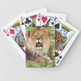 Naipes del león del rugido baraja