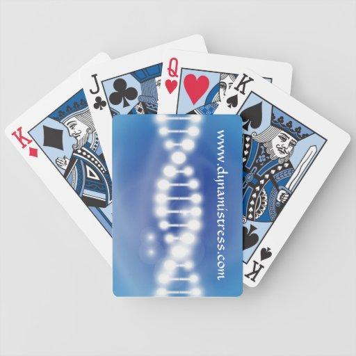 Naipes del logotipo de la DNA Baraja Cartas De Poker