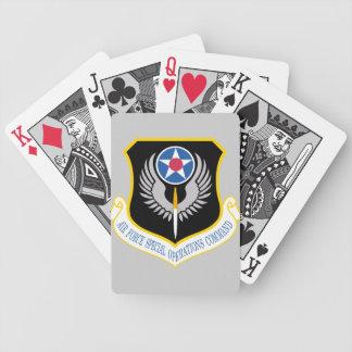 naipes del logotipo del afsoc barajas de cartas