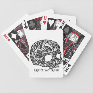 Naipes del logotipo del cráneo del pintor de Krist Cartas De Juego
