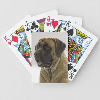 Naipes del mastín barajas de cartas