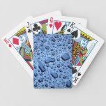 Naipes del modelo de las gotas de agua baraja cartas de poker