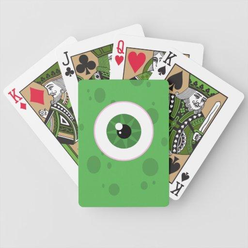Naipes del monstruo baraja cartas de poker