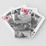 Naipes del monstruo de mar/de la criatura/de la bi baraja de cartas